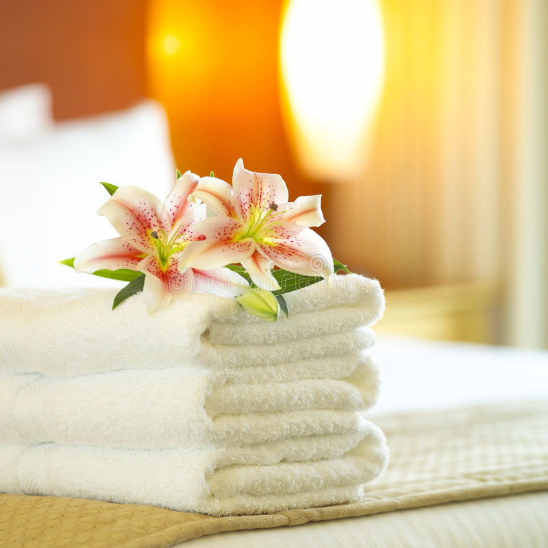 Free Hotel Towels Royalty Free Stock Image - 1099096