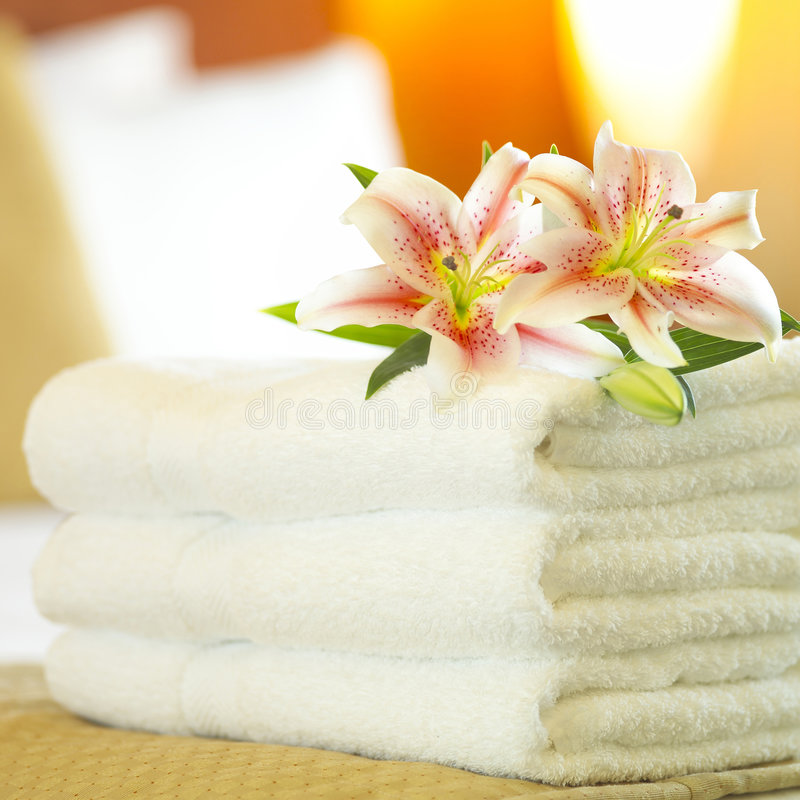 Download Hotel towels stock image. Image of lamp, plush, clean - 1135901