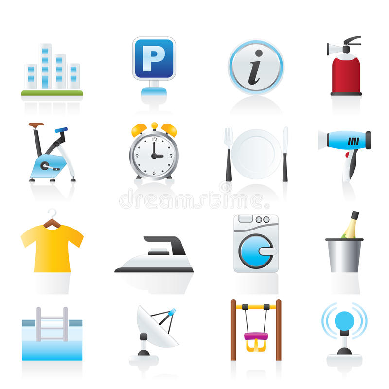 Download Hotel and travel icons stock vector. Illustration of iron - 23939832