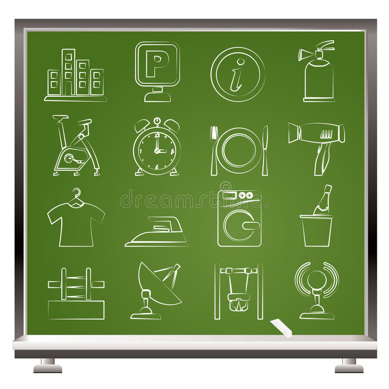 Download Hotel and travel icons stock vector. Illustration of menu - 24672787