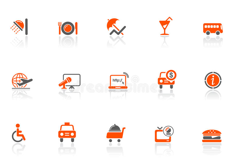 Download Hotel and travel icons stock vector. Image of restaurant - 9559347