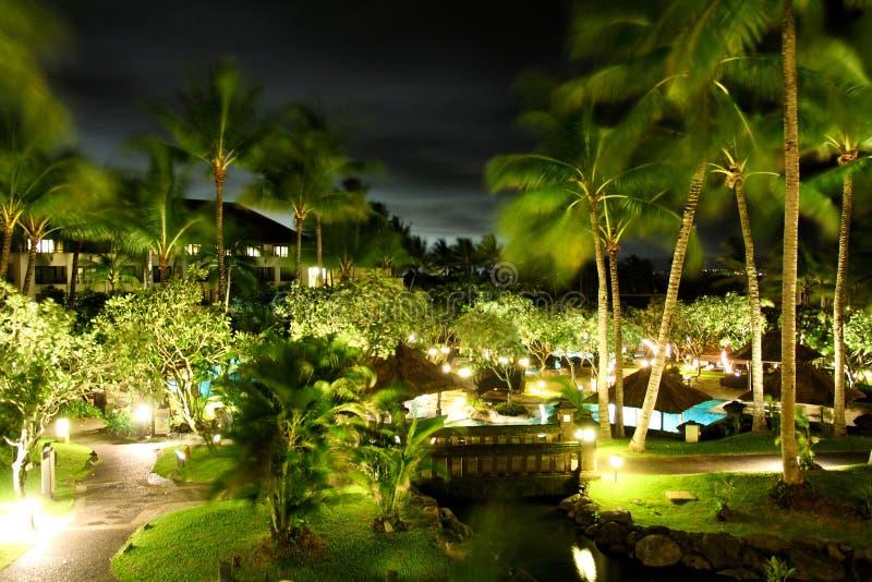 Hotel tropical imagen de archivo libre de regalías