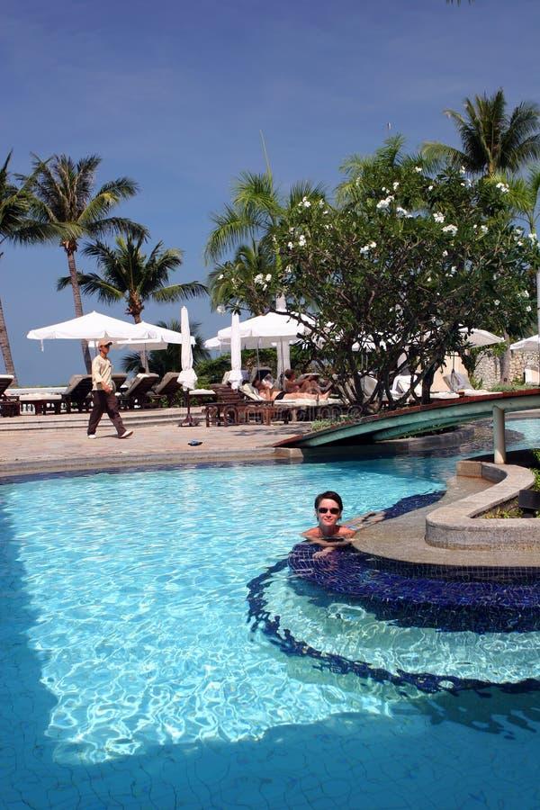 Hotel tropicale fotografie stock libere da diritti