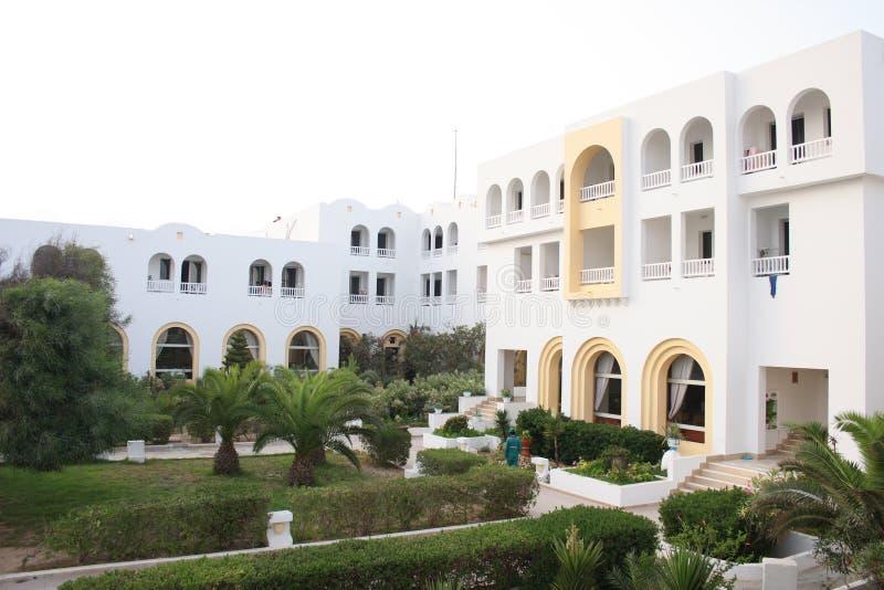 Hotel in Tunesien stockfotos