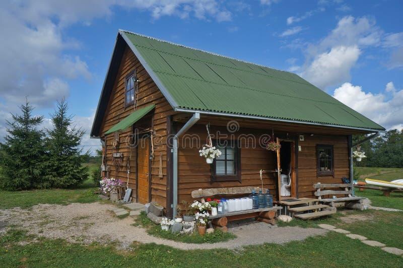 Hotel turístico de madera imagen de archivo libre de regalías