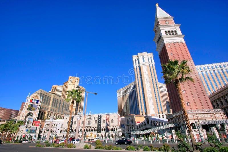 Hotel turístico y casino venecianos, Las Vegas, Nevada fotos de archivo