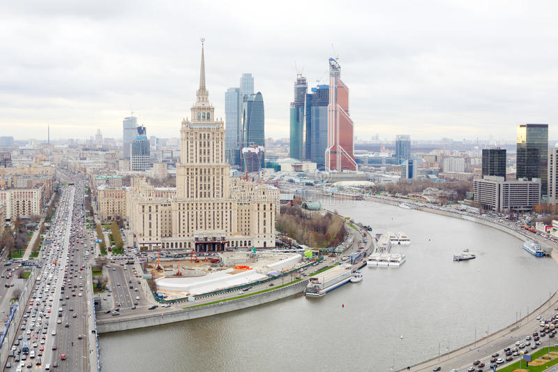 Download Hotel Ukraine And Moscow City Business Complex Stock Photo - Image: 33336972