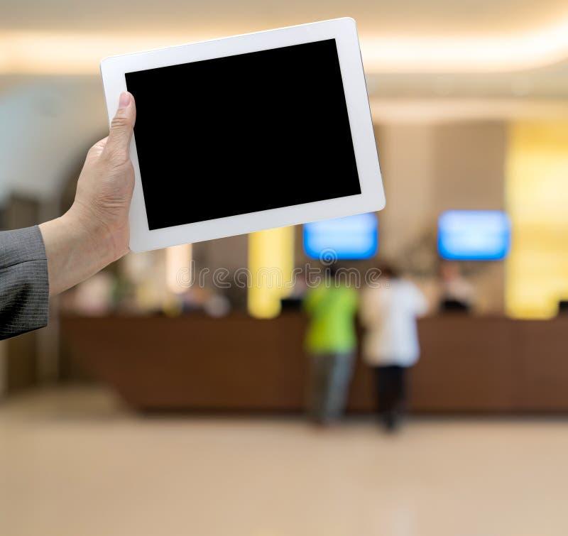 Hotel unscharfer Hintergrund lizenzfreies stockbild