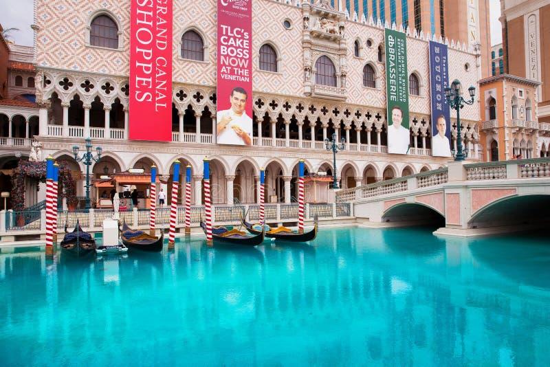 Hotel veneciano en Las Vegas imagen de archivo