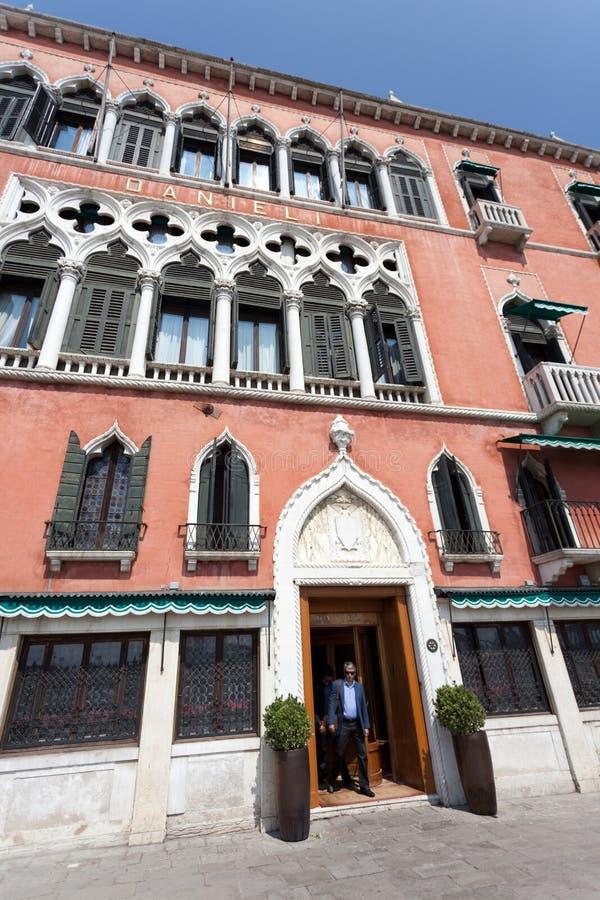 Hotel Venezia de las virutas para rellenar de Danieli imagenes de archivo