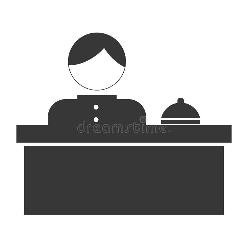 hotel verwant pictogrambeeld vector illustratie