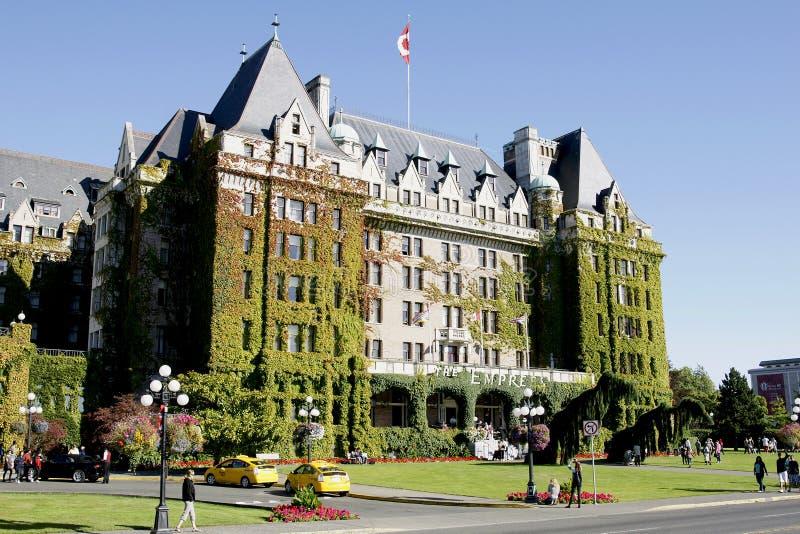Hotel Victoria da imperatriz BC imagens de stock royalty free