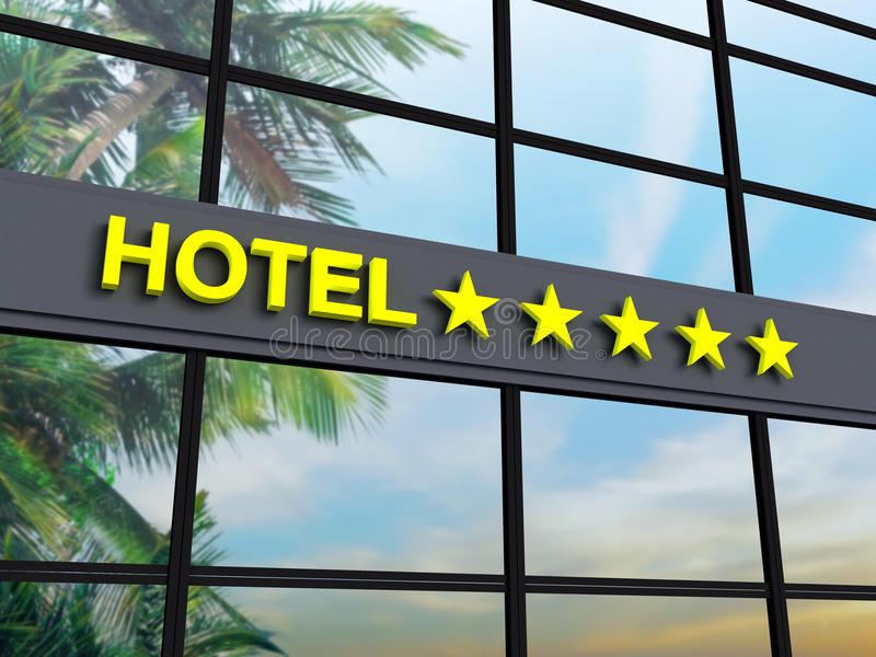 Hotel vijf sterren stock afbeelding