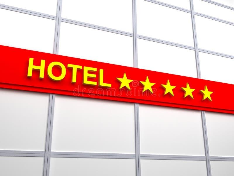 Hotel vijf sterren vector illustratie