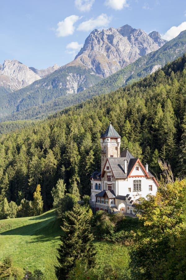 Hotel Villa Engadina on the hill, Vulpera, Switzerland royalty free stock photos