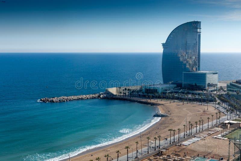 Hotel W by architect Ricardo Bofill, Barcelona. Catalonia, Spaincolor image, canon 5DmkII stock photos