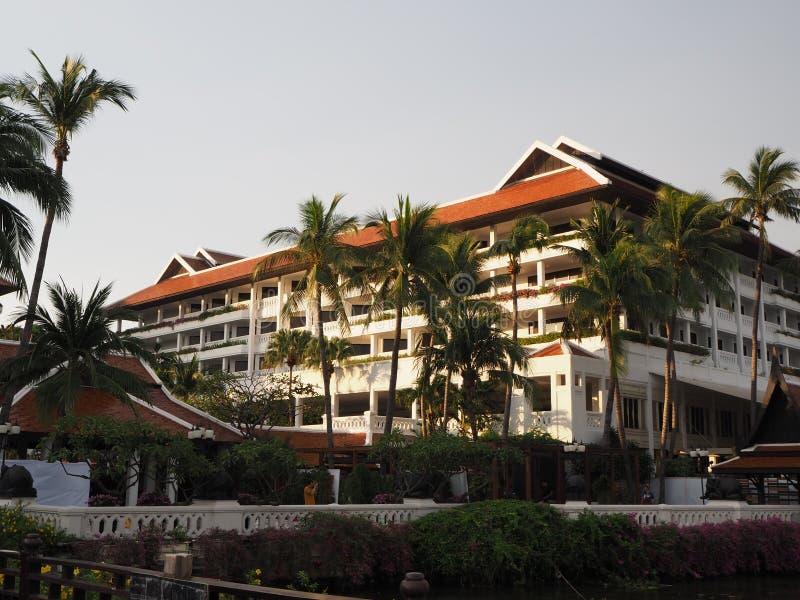 Hotel w Bangkoku, który znajduje się w pobliżu rzeki Chaophraya Widok na Anantara Riverside zdjęcia stock