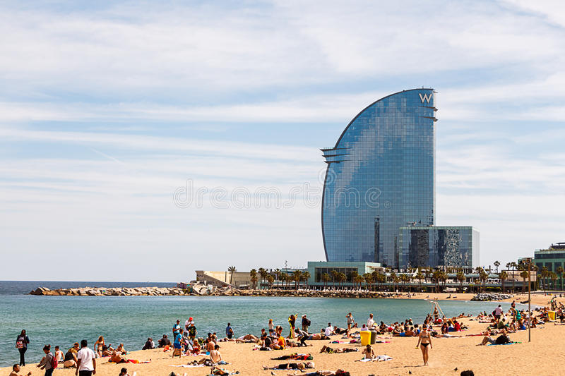 Hotel W, Barcelona stock photography