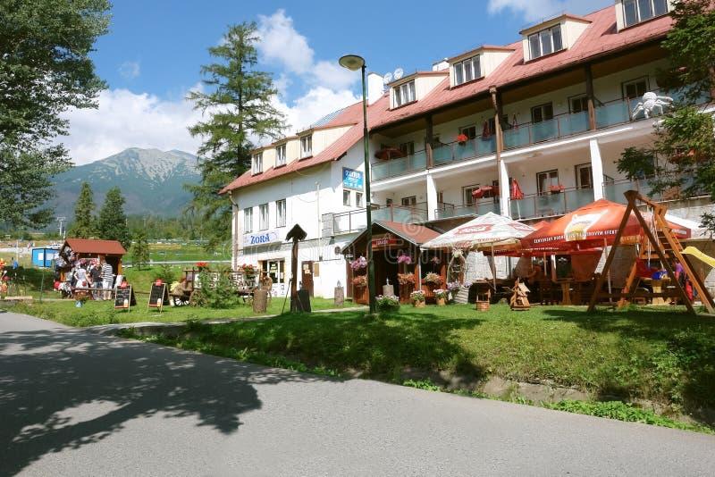 Hotel w Tatranska Lomnica, Sistani obraz stock