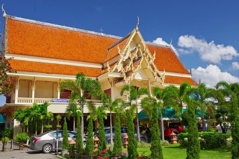 Hotel in Wat Phra Singh in Chiang Mai royalty-vrije stock foto