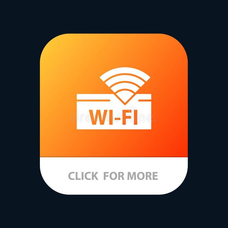 Hotel, Wifi, servicio, diseño móvil del icono del App del dispositivo stock de ilustración