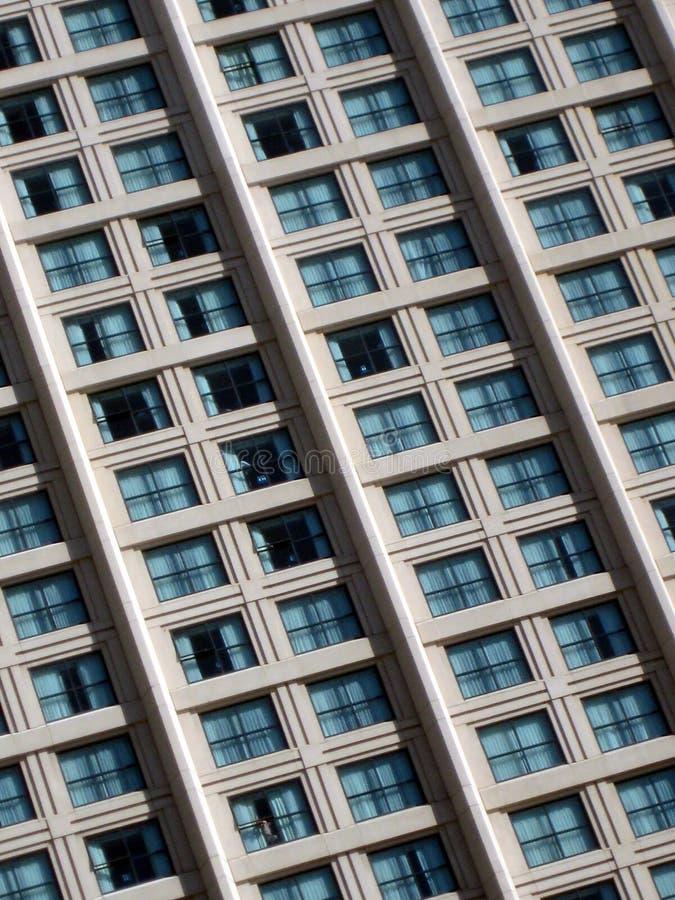 Hotel Windows. High Rise Apartment Repetitive Windows stock photos