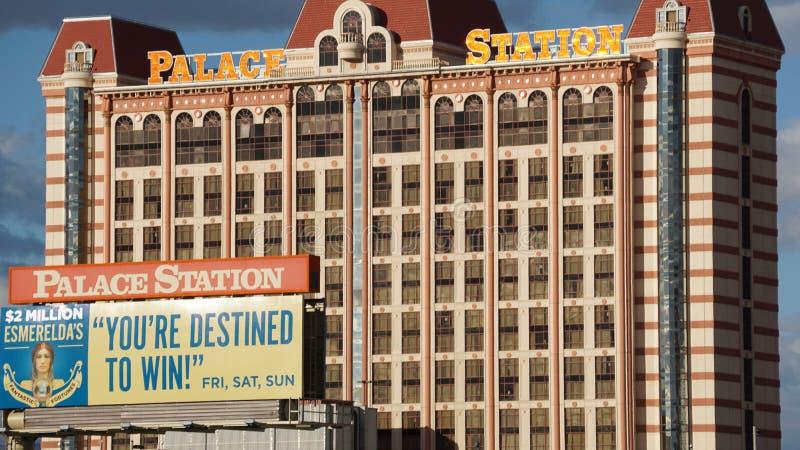 Hotel y casino de la estación del palacio en Las Vegas, Nevada fotografía de archivo libre de regalías