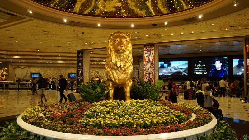 Hotel y casino de Mgm Grand en Las Vegas imagen de archivo