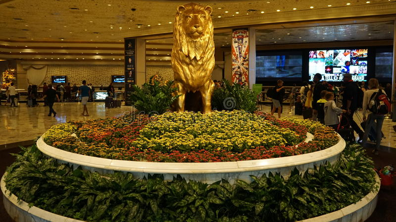 Hotel y casino de Mgm Grand en Las Vegas fotografía de archivo libre de regalías