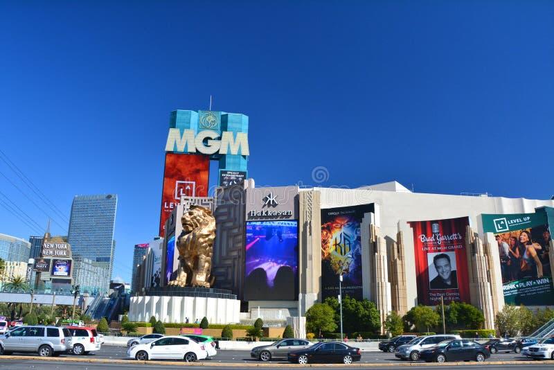 Hotel y casino de MGM Grand en Las Vegas Boulevard foto de archivo