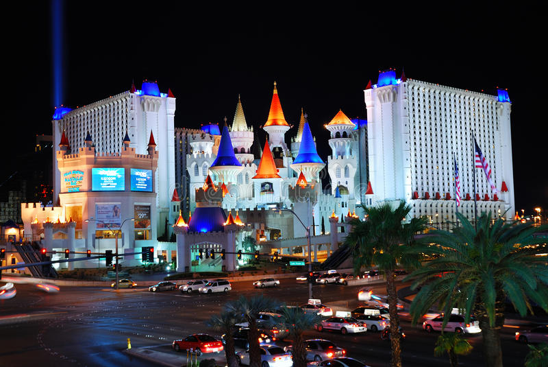 Hotel y casino, Las Vegas de Excalibur fotos de archivo