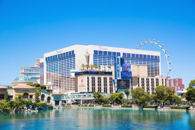 Hotel y casino, Las Vegas del flamenco imagen de archivo libre de regalías