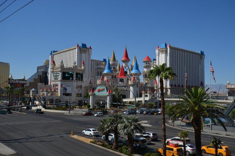 Hotel y casino, hotel y casino, Las Vegas, zona metropolitana, ciudad, ciudad, vecindad de Excalibur de Excalibur fotografía de archivo libre de regalías