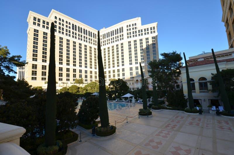 Hotel y casino, plaza, condominio, propiedad, señal de Bellagio imagen de archivo libre de regalías