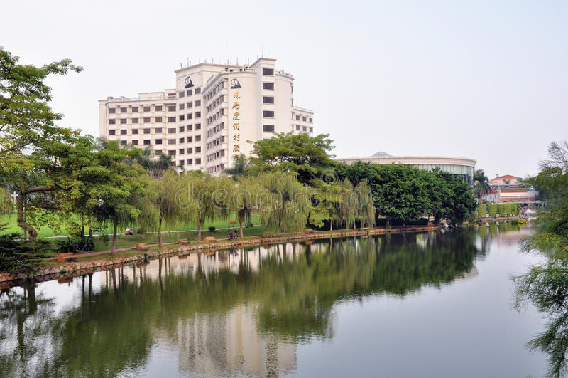 Hotel in Zhuhai stock image