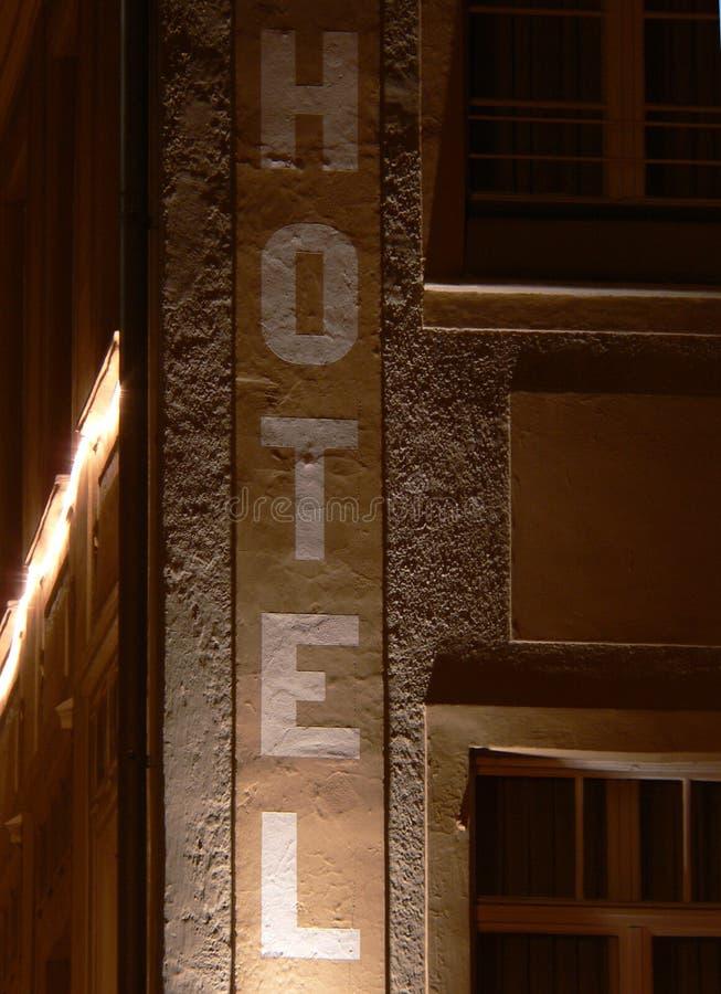 hotel znak fotografia stock