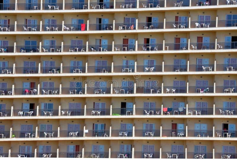 Hotelbalkonmuster - Hintergrund lizenzfreies stockbild