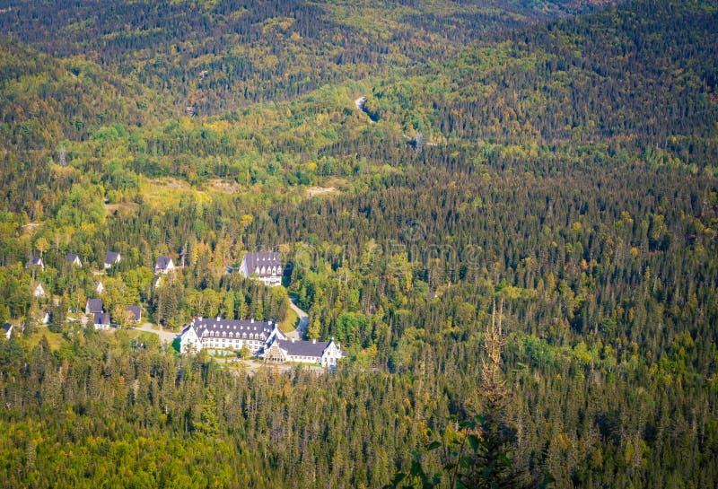 Hotelbos van Quebec royalty-vrije stock fotografie