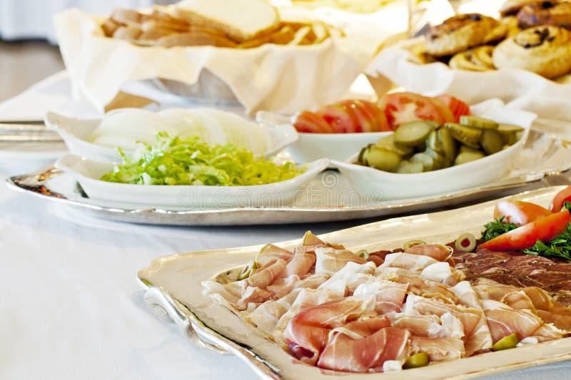 Hotelbuffet stock foto