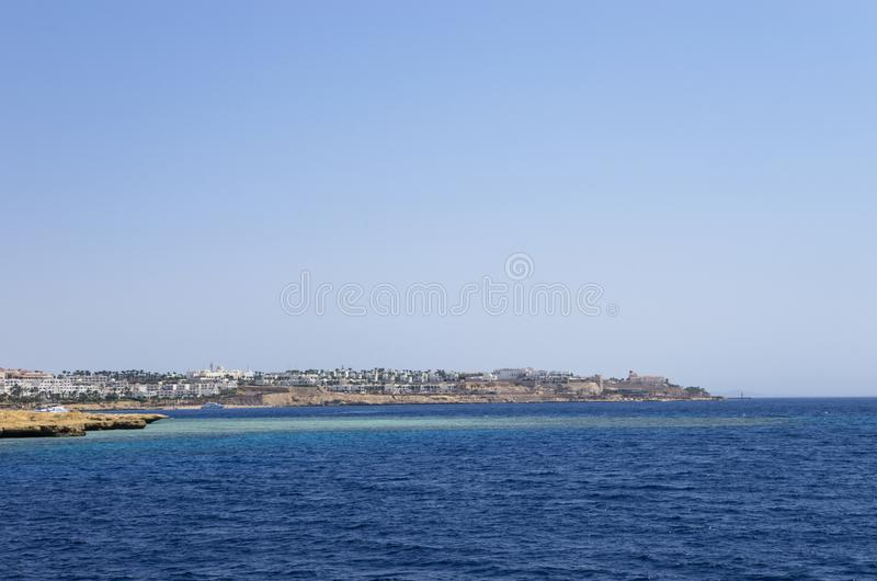 Hotele na Czerwonym morzu obraz royalty free
