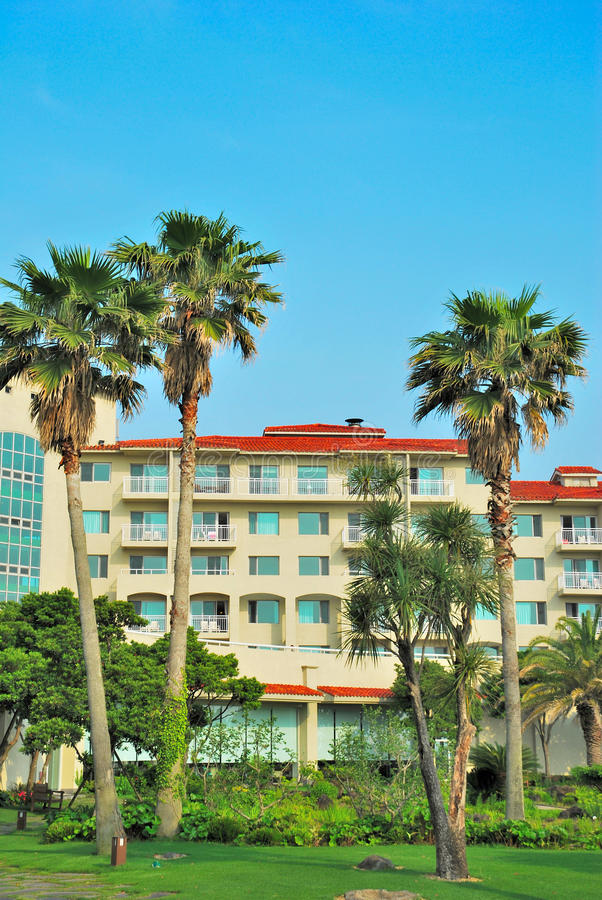 Hoteles de centro turístico tropicales fotografía de archivo libre de regalías
