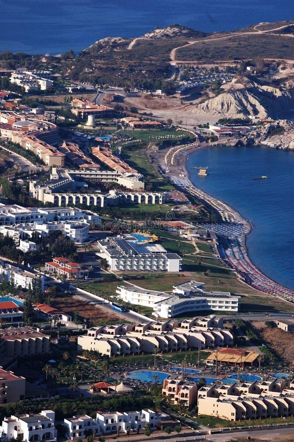 Hoteles del mar fotografía de archivo libre de regalías