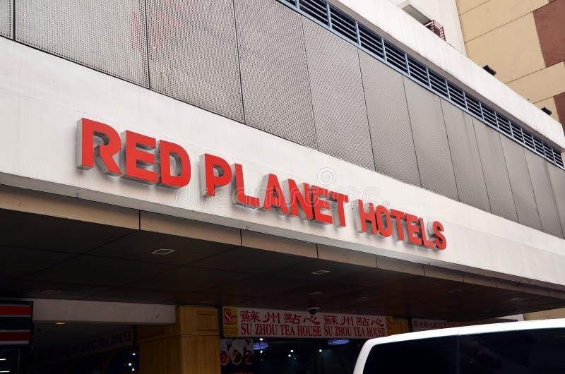 Hoteles rojos del planeta foto de archivo