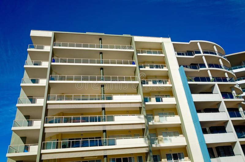 Hotelgebäude am Hafen Macquarie in Australien lizenzfreies stockfoto
