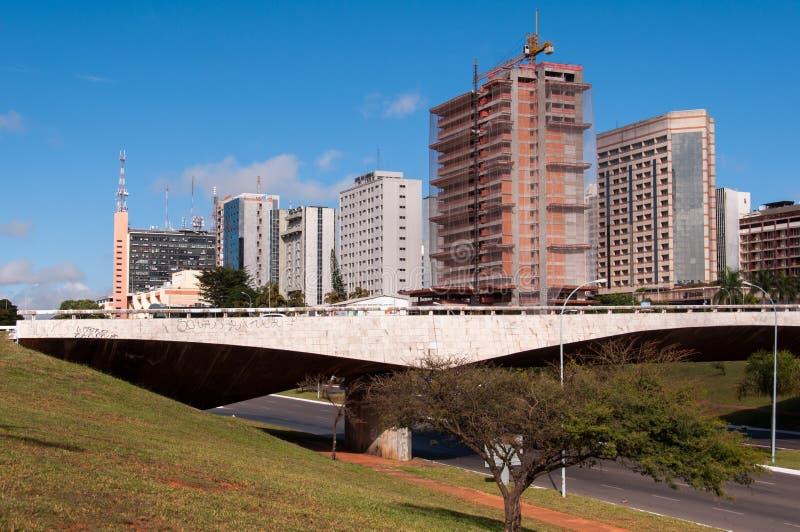 Hotelgebouwen Complex van Brasilia stock foto