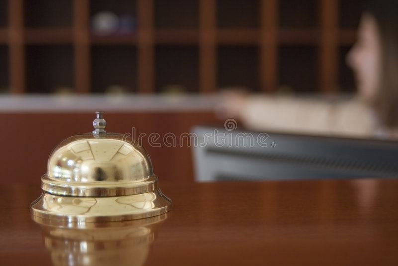 Hotelglocke stockfoto