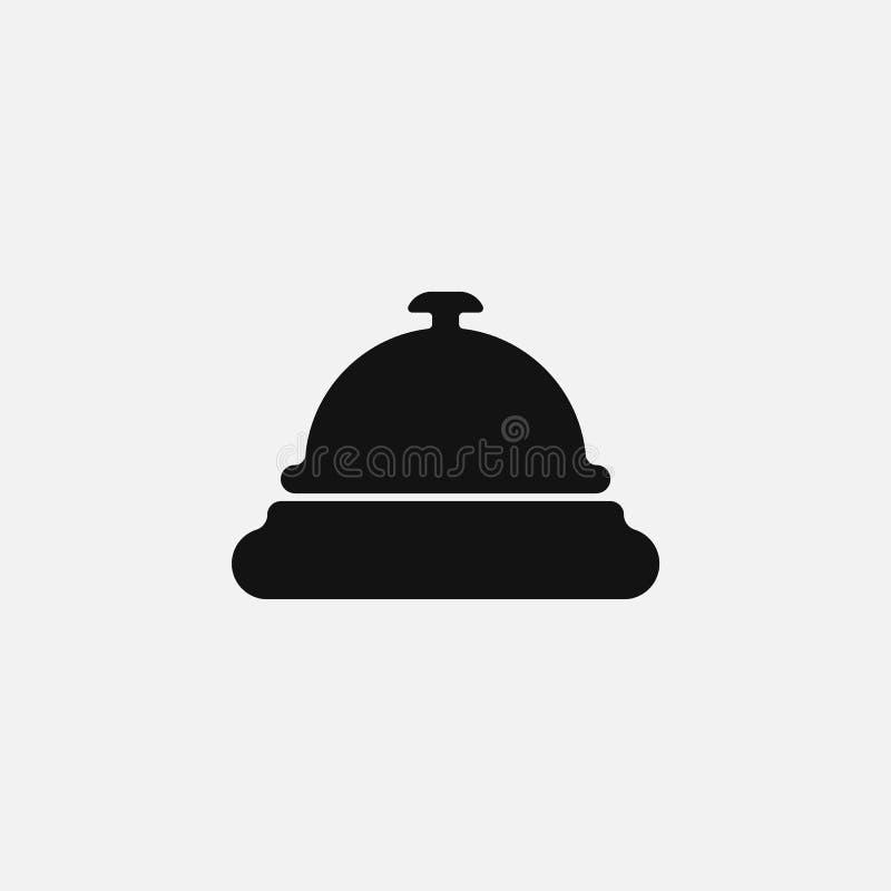 Hotelglockenikone lokalisiert auf weißem Hintergrund Auch im corel abgehobenen Betrag vektor abbildung