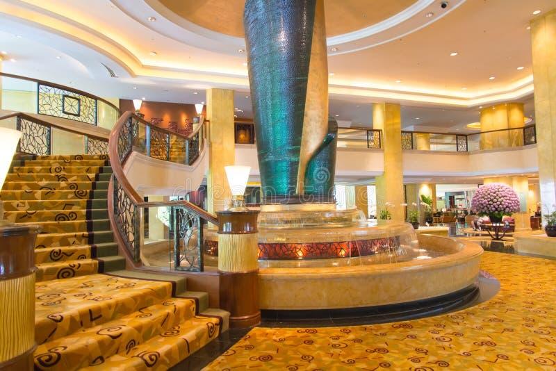Hotelhal royalty-vrije stock afbeeldingen