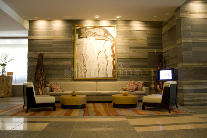 Hotelhal van Vier Seizoenen Seattle stock fotografie