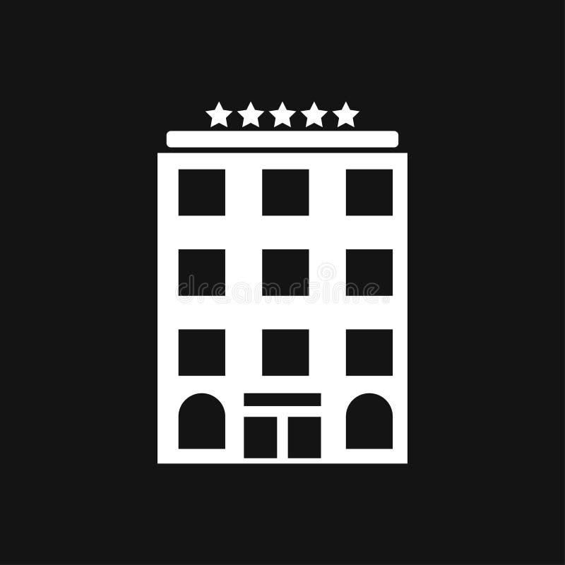 Hotelikonenlogo, Illustration, Vektorzeichensymbol f?r Entwurf vektor abbildung